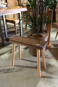 walnut-stool