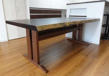 【納品情報】 ウエンジ一枚板テーブル・山桜 一枚板カウンターをお届け!