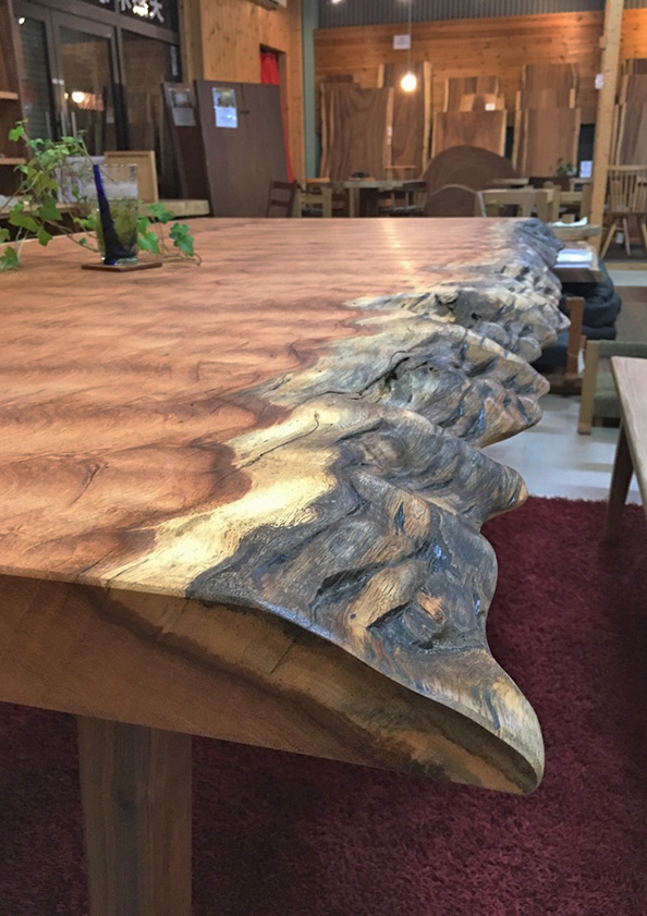 アパ一枚板テーブル